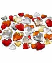 Vergelijk 720x hobby materiaal hartvormige glitter steentjes rood mix prijs