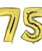 Vergelijk 75 jaar leeftijd helium folie ballonnen goud feestversiering prijs