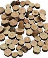 Vergelijk 780x houten boomschijfjes klein prijs