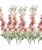 Vergelijk 8x delphinium kunst tak 70 cm roze prijs