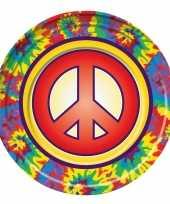 Vergelijk 8x hippie gebaksbordjes 22 cm prijs