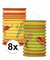 Vergelijk 8x mexicaanse thema lampionnetjes prijs