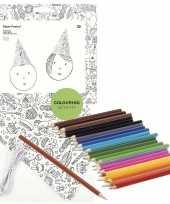 Vergelijk 8x punt hoedjes om in te kleuren met potloden voor kinderen prijs