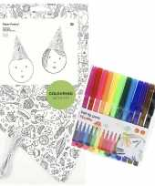 Vergelijk 8x punt hoedjes om in te kleuren met stiften voor kinderen prijs