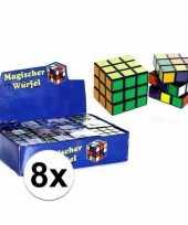 Vergelijk 8x uitdeel speelgoed puzzel kubussen 7 cm prijs