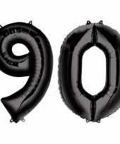 Vergelijk 90 jaar leeftijd helium folie ballonnen zwart feestversiering prijs