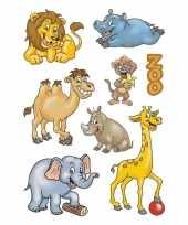Vergelijk 9x dierentuin dieren stickervellen met 8 stickers prijs