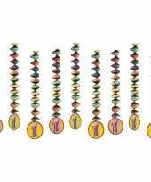 Vergelijk 9x feestartikelen 1 jaar spiralen versieringen prijs