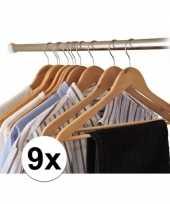 Vergelijk 9x kledinghangers hout prijs