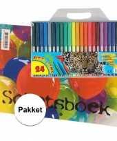 Vergelijk a4 tekenboek inclusief 24 viltstiften prijs