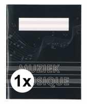 Vergelijk a5 schriften met muzieknoot balken zwart 1x prijs