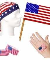 Vergelijk amerikaanse fan supporter verkleed set voor volwassenen prijs