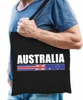 Vergelijk australie supporter schoudertas australia zwart katoen prijs