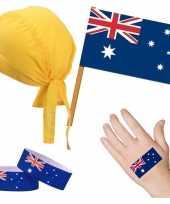 Vergelijk australische fan supporter verkleed set voor volwassenen prijs