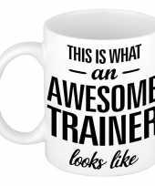 Vergelijk awesome trainer cadeau mok beker voor je coach 300 ml prijs