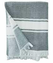 Vergelijk badlaken chevron met hammam print voor volwassenen 90 x 160 prijs 10154122