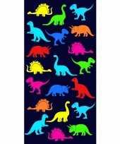 Vergelijk badlaken dinosaurus print dino voor kinderen 70 x 140 cm prijs