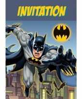 Vergelijk batman verjaardags uitnodigingen 8 stuks prijs