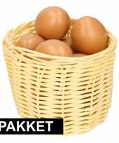 Vergelijk beige paaseieren mandje met bruine eieren prijs