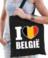 Vergelijk belgie schoudertas i love belgie zwart katoen prijs
