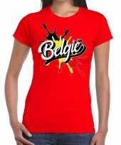 Vergelijk belgie supporter kleding rood voor dames prijs