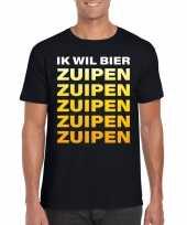 Vergelijk bier zuipen fun t-shirt zwart voor heren prijs