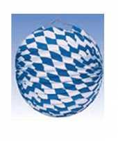 Vergelijk blauw wit geblokte lampionnen 25 cm prijs
