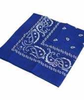 Vergelijk blauwe boeren zakdoeken prijs