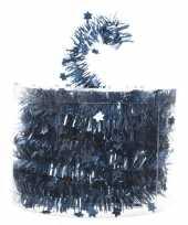 Vergelijk blauwe feestslinger folie met ster 700 cm prijs