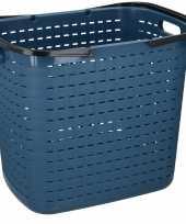 Vergelijk blauwe hoge kunststof wasgoed mand 45 liter prijs