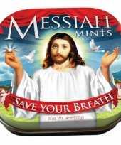 Vergelijk blikje met pepermuntjes messiah mints prijs