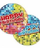 Vergelijk bordjes happy birthday 18 cm prijs 10145075