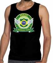 Vergelijk brazil drinking team tanktop mouwloos shirt zwart heren prijs