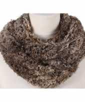 Vergelijk bruin melee fleece ronde col sjaal voor volwassenen prijs