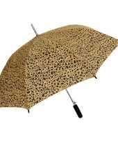Vergelijk bruin zwarte luipaard opdruk paraplu 80 cm prijs