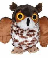 Vergelijk bruine oehoe uilen knuffels 18 cm knuffeldieren prijs