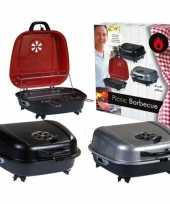 Vergelijk camping barbecue met zwart deksel 41 x 42 cm prijs
