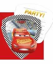 Vergelijk cars verjaardag uitnodigingen 12 stuks prijs