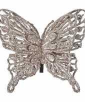 Vergelijk champagne deco vlinder met glitters 13 x 11 cm prijs