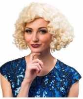 Vergelijk charleston pruik blond voor dames prijs