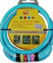 Vergelijk cijfer kabelslot blauw 10 x 650 mm prijs