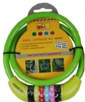 Vergelijk cijfer kabelslot groen 10 x 650 mm prijs