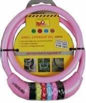 Vergelijk cijfer kabelslot roze 10 x 650 mm prijs