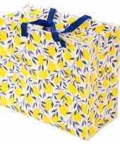 Vergelijk citroenen print opbergzak 55 x 48 cm speelgoed knuffels opbergen prijs