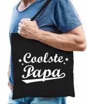 Vergelijk coolste papa cadeau tas zwart katoen prijs
