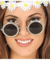 Vergelijk diamantjes feestbril met ronde glazen prijs