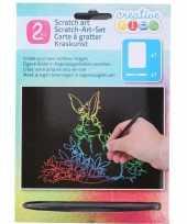Vergelijk dieren kras platen regenboog kleuren prijs 10136431