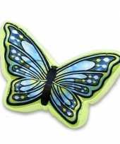 Vergelijk dierenkussen vlinder blauw groen 50 cm prijs