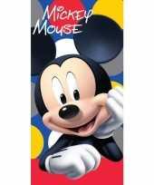 Vergelijk disney mickey mouse dots badhanddoek 70 x 140 cm prijs