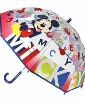 Vergelijk doorzichtige mickey mouse paraplu voor jongens 71 cm prijs